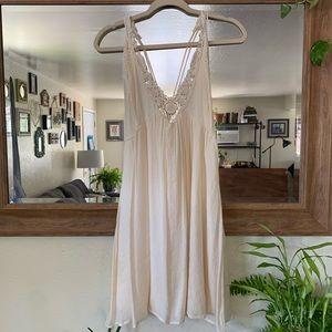 NWOT Cream Boho Dress